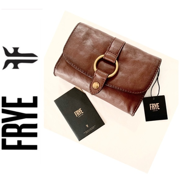Frye Handbags - NWT FRYE genuine leather ring crossbody cognac